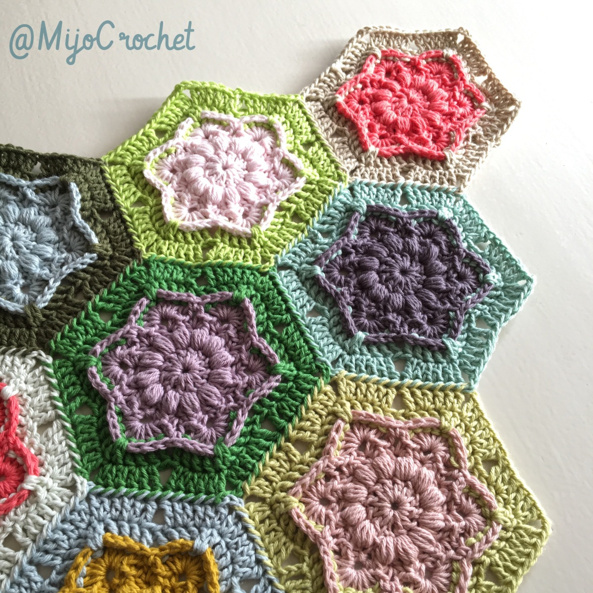 Flower Crochet Hexagon